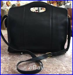 COACH Vintage XL Shopper Briefcase Black Leather Laptop Bag 9995 EUC Made in USA
