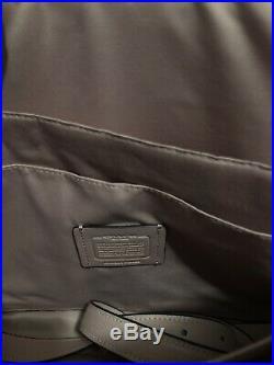 COACH Womens CROSSGRAIN LEATHER LAPTOP BAG PORTFOLIO BRIEFCASE F39022 Carnation