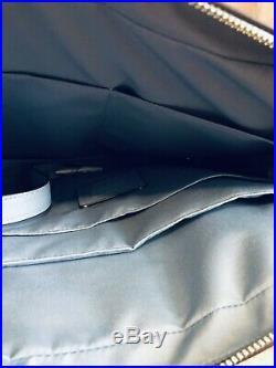COACH Womens LAPTOP BAG Handbag Briefcase LEATHER CROSSBODY F39022 Blue Silver