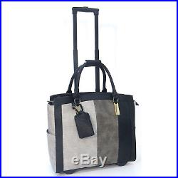 Cabrelli Laila Lizard Women's Rolling Bag Laptop Case Wheeled Briefcase 717018U