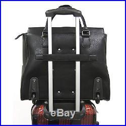 Cabrelli Leah Lizard Womens Rolling Laptop Briefcase Bag Wheeled Case 717011U