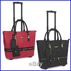 Cabrelli Zara Zippers Roller Women's Rolling Bag Laptop Case Brief Case 718007U