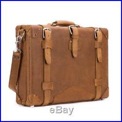 Case Lawyer Womens Mens Messenger Bag Leather Briefcase Laptop Attache Catalog