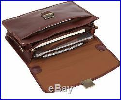 Case Mens Laptop Messenger Bag Leather Lawyer Womens Briefcase Attache / Wallet