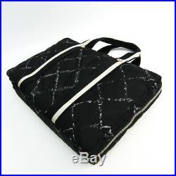 Chanel Travel Line Women's Nylon Briefcase, Laptop Bag Black BF335789