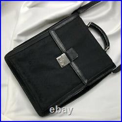 Christian Dior Monogram Bag Shoulder Laptop Bag Black Vintage