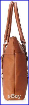 Claire Chase Ladies Leather Laptop Handbag, Computer Tote Bag for Women