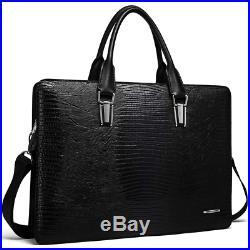 Cluci Leather Briefcases for Men 14 Inch Laptop Vintage Slim Business Women Bag