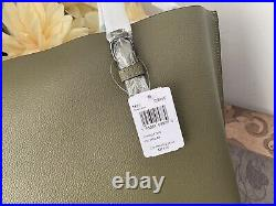 Coach 1671 Mollie Large Tote Purse Laptop Bag Kelp Black Leather New With Tag