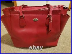 Coach Baby Bag in Crossgrain Leather (F35702)