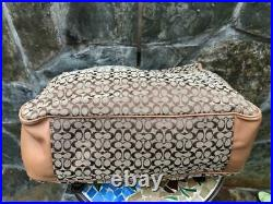 Coach Beige Canvas and Leather Signature Messenger Laptop Bag F70293 3000