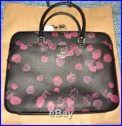 Coach F38985 Laptop Bag Halftone Floral Print