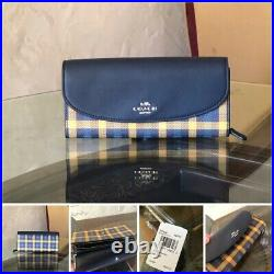 Coach Gingham Plaid check Reversible tote handbag/wallet NWT laptop Bag