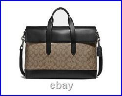 Coach Hamilton Style 580 Signature Portfolio Briefcase-Free Shipping