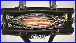 Coach Hamptons Black Leather Legacy Laptop Attache Briefcase Business Travel Bag