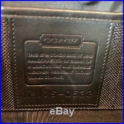 Coach Mens/Womens Black Leather Shoulder Brief Case/Laptop Bag/Messenger Bag