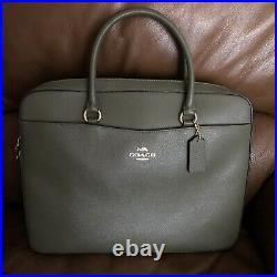 Coach Military Green Laptop Bag