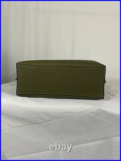 Coach Mollie Large Kelp Black Olive Green Leather Tote Purse Laptop Bag NWT