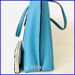 Coach Mollie Large Tote Purse Wallet Set Laptop Bag Aqua Blue Sunset Beach $606