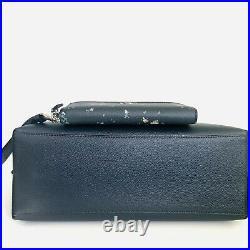 Coach Mollie Large Tote Purse Wallet Set Laptop Bag Navy Blue Floral NWT $656