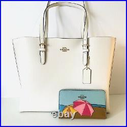 Coach Mollie Tote Large White Purse Wallet Set Laptop Bag Beach Umbrella $606