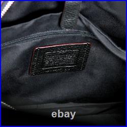 Coach Pebbled Black Leather Hamilton Briefcase Crossbody Laptop Bag Oxblood Red