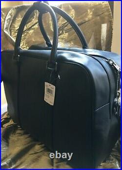 Coach Smooth Leather Overnight Laptop Bagdetachable Adjustable Shoulder Strap