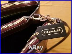 Coach Womens Elegant Leather Large Laptop Brief Case Bag