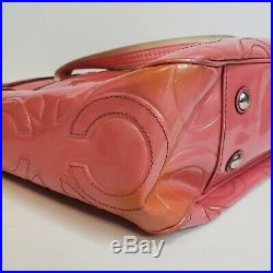 Coach Womens Pink Tote Purse Diaper Bag Multi-function M1173-1 Laptop Infant Kid