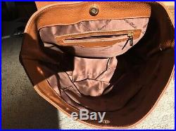 Cognac Genuine Tuscan Leather Backpack for women NWTO. Purse or laptop bag