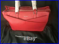 Cole Haan American Airlines Women's Leather Business Brief Tote Laptop Bag NEW