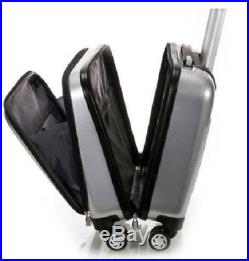 Computer Case Women Men Rolling Silver Laptop Bag Carry On Spinner Luggage Wheel
