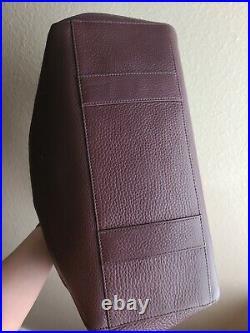 Dagne Dover Allyn Tote Large Oxblood (Burgundy) Leather Laptop Purse Bag EUC