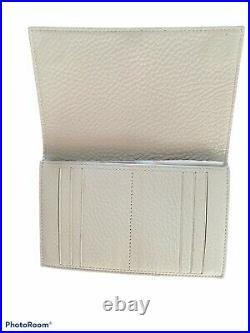 Dagne Dover Allyn Tote Medium Bone Leather Laptop Purse Bag with Wallet