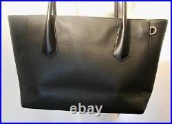 Dagne Dover New Legend Coated Canvas Tote Laptop Bag Black Current Bnwot $265