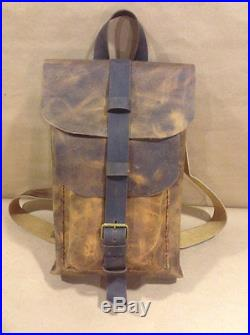 Distressed genuine Leather Men's women Briefcase Laptop Messenger bags backpack