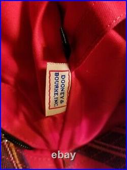 Dooney Bourke Large Plaid Tote/Laptop case bag