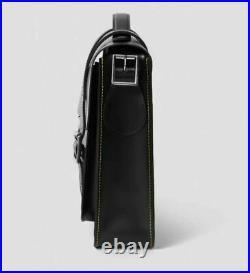 Dr Martens 13 Black Kiev 100% LEATHER SATCHEL Briefcase Laptop Unisex BAG