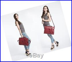 ECOSUSI Ladies PU Leather Laptop Bag Briefcase Crossbody Messenger Bags Satch