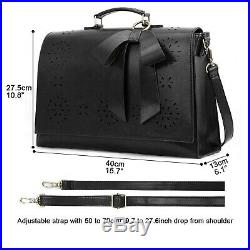 ECOSUSI Women Briefcase 15.6 inch Laptop Bag Shoulder Computer Satchel Bag wi
