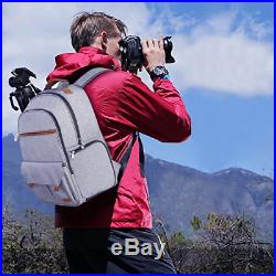 Endurax Waterproof Camera Backpack For Women And Men Fits 15.6 Laptop With DSLR