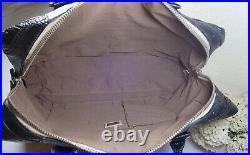FENDI BLACK CALF SKin Leather Satchel Briefcase Laptop Office Document Bag