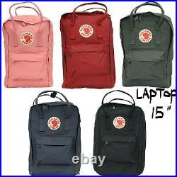 FJALLRAVEN Kanken Laptop 15 Backpack STYLE No 27172 Multiple Colors NEW