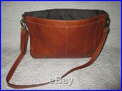 FOSSIL Leather Briefcase Satchel Laptop Bag Shoulder Messenger Bag Men Women