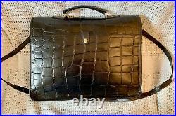 Fab MULBERRY Ethan Black Congo Leather Briefcase Satchel Laptop Shoulder Bag