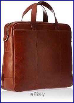Fossil Men's Buckner Workbag Laptop Messenger Bag, Brown, One-Size