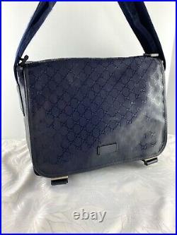 GUCCI Imprime Blue Messenger Bag Laptop Bag Diaper Bag Unisex