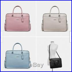 Genuine Coach Women's Leather Laptop Bag / Crossbody F39022