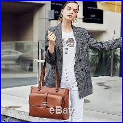 Genuine Leather Laptop Tote Bags for Women Large Briefcase Work Ladies Handba