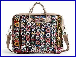 Genuine Vintage Leather Satchel Messenger Banjara HandBag Laptop Briefcase Bag